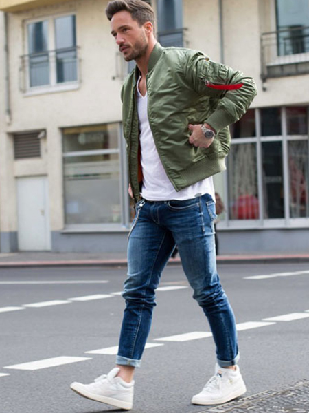 Stylish Man With Slim Jeans